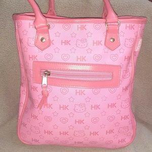 Vintage HELLO KITTY Pink Logo Purse 2003 SANRIO